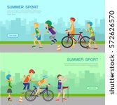 set of summer sport vector web... | Shutterstock .eps vector #572626570
