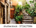 Old Stone Stairs Decorated Wit...