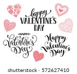 happy valentine's day text for... | Shutterstock .eps vector #572627410