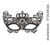 iron half mask | Shutterstock . vector #572628166