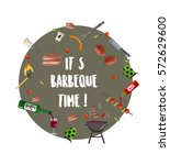 it's barbeque time.   barbeque... | Shutterstock .eps vector #572629600