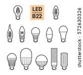 led light bulbs with b22 base ... | Shutterstock .eps vector #572630326