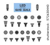 led light bulbs with gu10 and...   Shutterstock .eps vector #572630440
