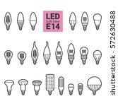 led light bulbs with e14 base ...   Shutterstock .eps vector #572630488