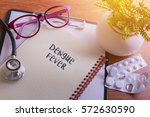 stethoscope on note book with... | Shutterstock . vector #572630590