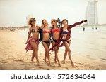 Four Girls Having Fun Posing O...