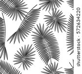 seamless pattern with tropical... | Shutterstock .eps vector #572634220