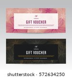 gift voucher template for spa ... | Shutterstock .eps vector #572634250