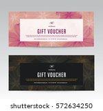 gift voucher template for spa ... | Shutterstock .eps vector #572634250