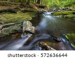 Low Angle View Of A Rapids In ...