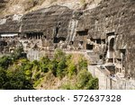 Ajanta Cave View Carved In The...