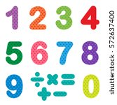 numbers from zero to nine with... | Shutterstock .eps vector #572637400