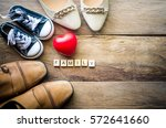 heart shoes for family. for the ... | Shutterstock . vector #572641660