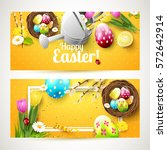 Easter Headers With Flowers ...