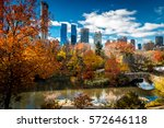 view of central park and the... | Shutterstock . vector #572646118