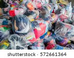 old cloth in plastic bag for... | Shutterstock . vector #572661364