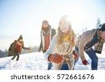friends enjoying themselves... | Shutterstock . vector #572661676