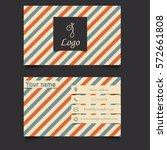 business card template   Shutterstock .eps vector #572661808