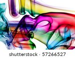 colored smoke isolated on a... | Shutterstock . vector #57266527
