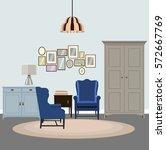 vector illustration of modern... | Shutterstock .eps vector #572667769