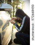 a man steals someone else's car ... | Shutterstock . vector #572668450