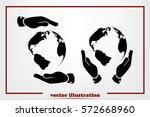 globe icon vector illustration. | Shutterstock .eps vector #572668960
