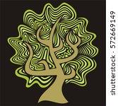 beautiful tree. vector...   Shutterstock .eps vector #572669149
