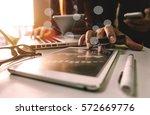 business team meeting present... | Shutterstock . vector #572669776