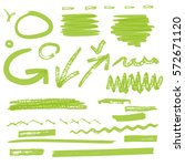 vector highlighter elements vol ... | Shutterstock .eps vector #572671120