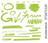 vector highlighter elements vol ... | Shutterstock .eps vector #572671120