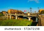 ponte delle nazioni  bridge of... | Shutterstock . vector #572672158