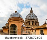 the roof at st. peter's... | Shutterstock . vector #572672608