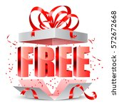 opened gift box with free... | Shutterstock .eps vector #572672668