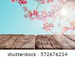 top of wood empty ready for... | Shutterstock . vector #572676214