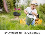 cute little toddler boy... | Shutterstock . vector #572685538