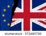 europe and united kingdom flags ... | Shutterstock . vector #572685730