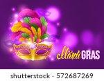 mardi gras carnaval design.... | Shutterstock .eps vector #572687269