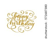 "hand drawn lettering ""happy... 