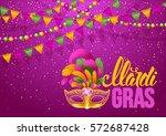 mardi gras carnaval design....   Shutterstock .eps vector #572687428