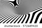 black and white lines... | Shutterstock . vector #572689420