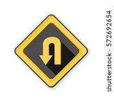u turn sign illustration | Shutterstock .eps vector #572692654