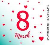 march 8 vector graphics   Shutterstock .eps vector #572693248