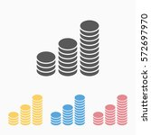 coins icon   Shutterstock .eps vector #572697970