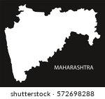 maharashtra india map black...   Shutterstock .eps vector #572698288