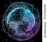 digital world. computer... | Shutterstock . vector #572702194