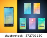 simple and colorful ui suface... | Shutterstock .eps vector #572703130