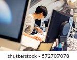 tech start up founders working | Shutterstock . vector #572707078