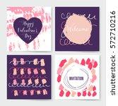 valentines day vintage... | Shutterstock .eps vector #572710216