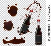 soya sauce bottle splash and... | Shutterstock .eps vector #572711260