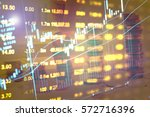 stock market chart. business... | Shutterstock . vector #572716396